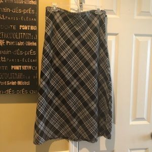 Plaid skirt cute with calf boots